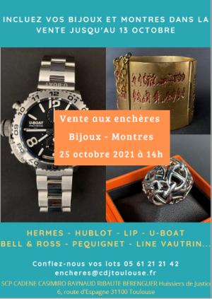 VENTE EN PREPARATION : BIJOUX & MONTRES - Incluez vos lots dans notre belle vente !
