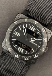 Montre-bracelet d'homme BELL & ROSS BR03 type aviation Mouvement quartz
