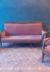 Salon Restauration en acajou