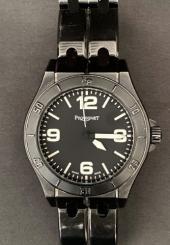 Montre-bracelet d'homme PEQUIGNET Lunette et bracelet acier noir