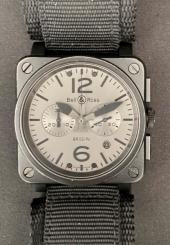 Montre-bracelet d'homme chronographe BELL & ROSS BR03-94 type aviation Commando