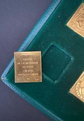 Les Timbres Célèbres - 10 pièces en or pur 24 carats frappées par la Monnaie de Paris
