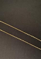 Chaînette en or jaune 18k maille forçat ovale - Poids : 3.4 g